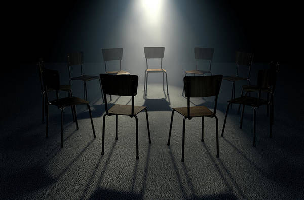 Psychology Digital Art - Group Therapy Chairs by Allan Swart