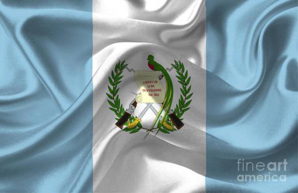 Guatemala Flag Digital Art - Guatemala Flag by Frederick Holiday