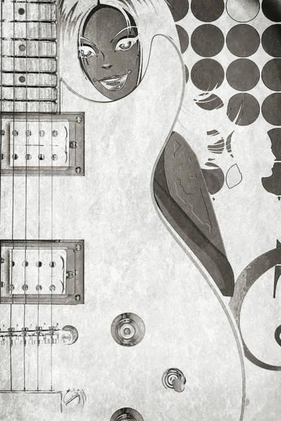 Photograph - Guitar Hide 5501.01 by M K Miller