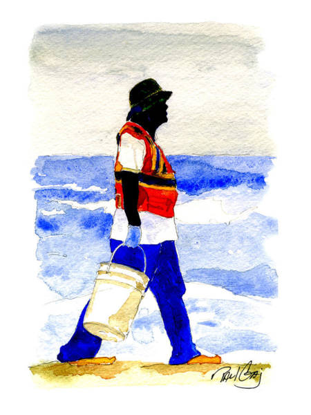 Wall Art - Painting - Gulf Clean Up by Paul Gaj