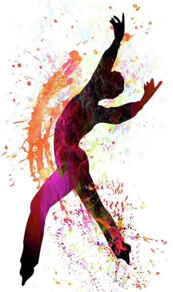 Sportsman Digital Art - Gymnast by Elena Kosvincheva