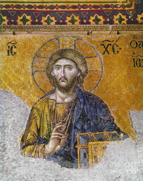 Wall Art - Photograph - Hagia Sophia: Mosaic by Granger