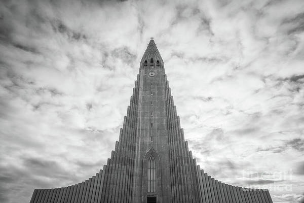 Photograph - Hallgrimskirkja Bw by Michael Ver Sprill