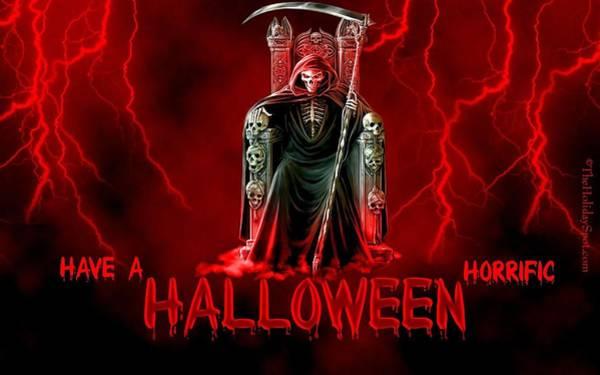 Black Digital Art - Halloween by Maye Loeser