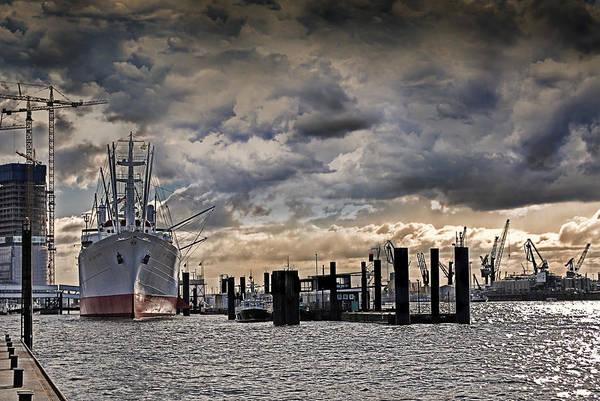Freighter Photograph - Hamburg Harbor by Joachim G Pinkawa