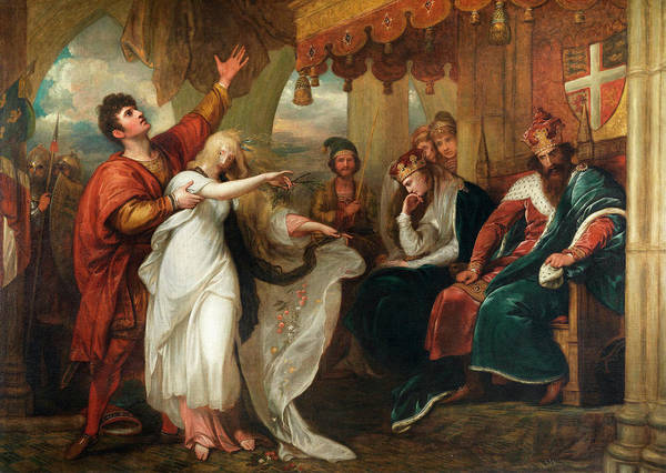 Ophelia Painting - Hamlet Act Iv, Scene V by Benjamin West
