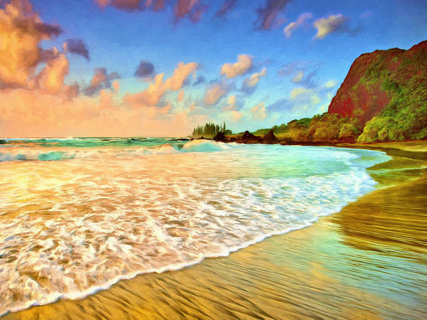Painting - Hamoa Beach At Hana Maui by Dominic Piperata