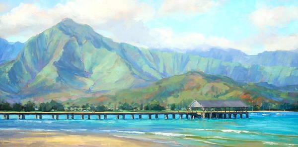 Hawaiian Islands Wall Art - Painting - Hanalei Pier by Jenifer Prince