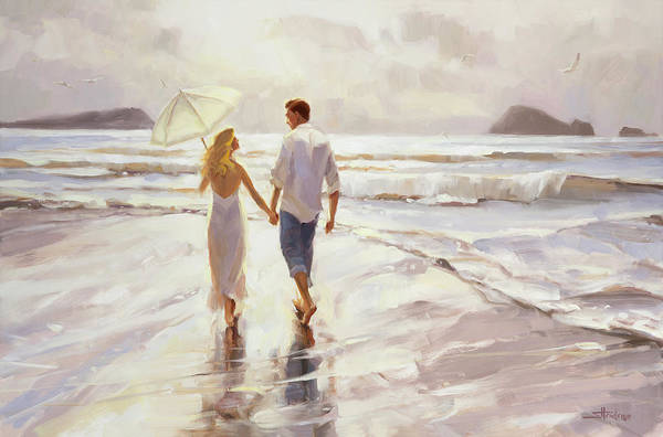 Wall Art - Painting - Hand In Hand by Steve Henderson
