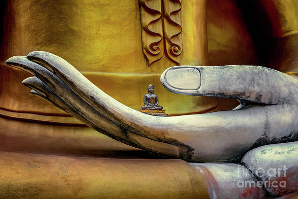 Thai Wall Art - Photograph - Hand Of Buddha by Adrian Evans