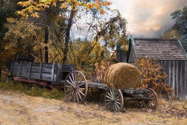 Wagon Wheel Photograph - Handmade And Homegrown by Robin-Lee Vieira