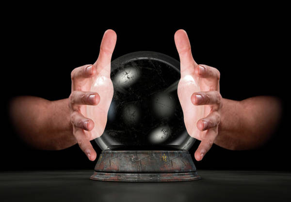 Wall Art - Digital Art - Hands On Crystal Ball by Allan Swart