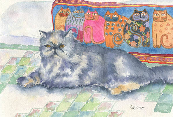 Pedigree Painting - Hannah by Marsha Elliott