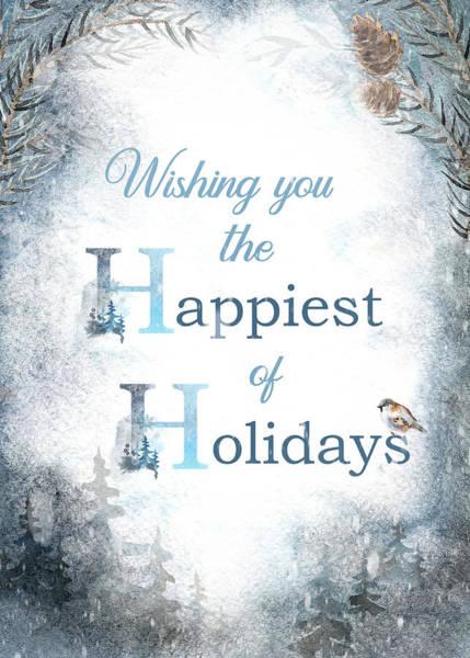 Digital Art - Happiest Of Holidays by Teresa Wilson