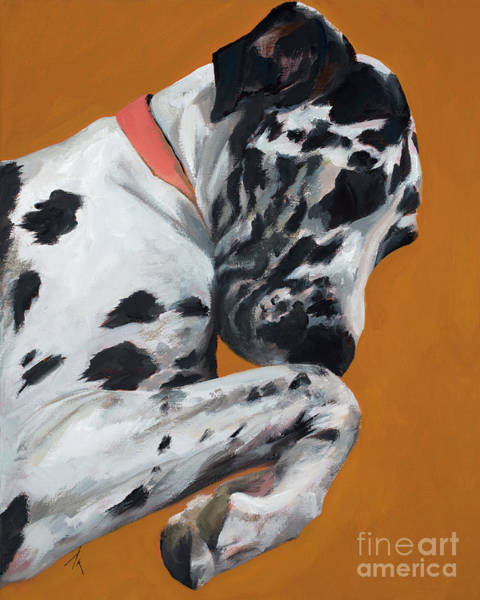 Black Great Dane Painting - Happiness Is Lucy by Alyson Kinkade