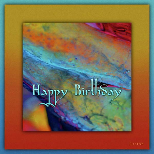 Digital Art - Happy Birthday by Richard Laeton