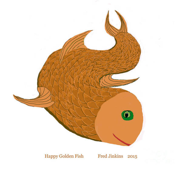 Priceless Painting - Happy Golden Fish by Fred Jinkins