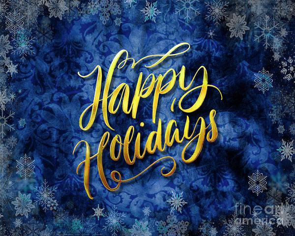 Digital Art - Happy Holidays by Edmund Nagele