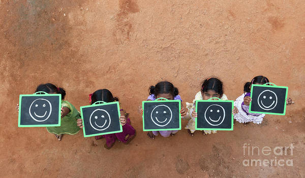Oneness Photograph - Happy Smiley Faces by Tim Gainey