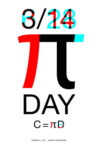 Wall Art - Digital Art - Happy Tau And Pi Day by Martin Krzywinski