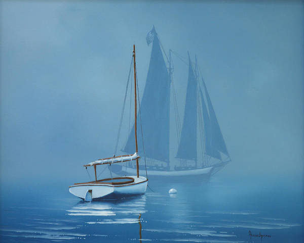 Painting - Harbor Cat by Kenneth F Aunchman