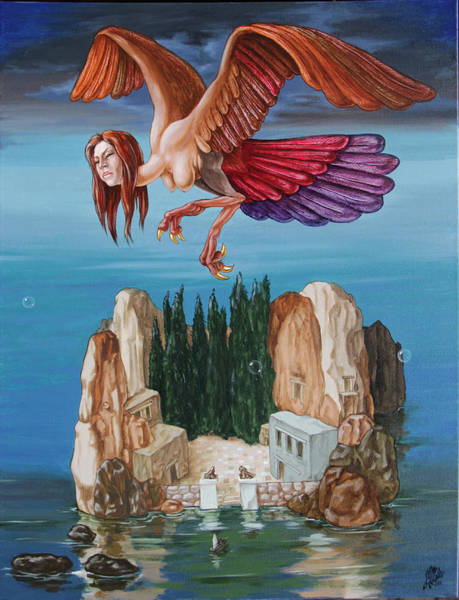 Painting - Harpy From The Island Of The Dead by Victor Molev