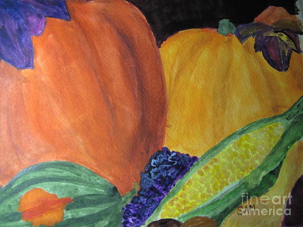 Winter Squash Painting - Harvest Time by Sandy McIntire