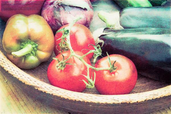 Aubergine Wall Art - Photograph - Harvest  by Tom Gowanlock
