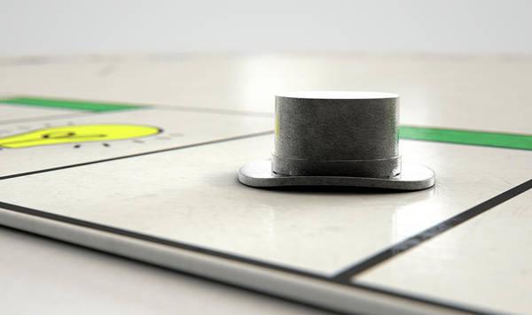 Estate Digital Art - Hat Icon On A Boardgame by Allan Swart