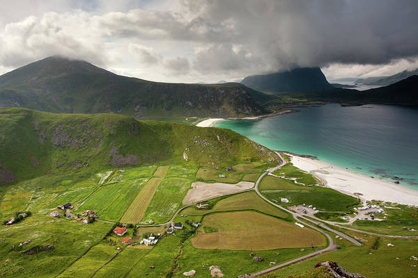Photograph - Haukland Valley And Beach From Mannen by Aivar Mikko