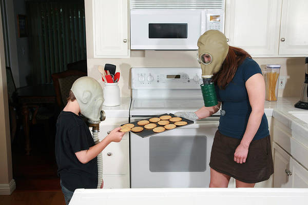 Gasmask Photograph - Have A Cookie  by Michael Ledray