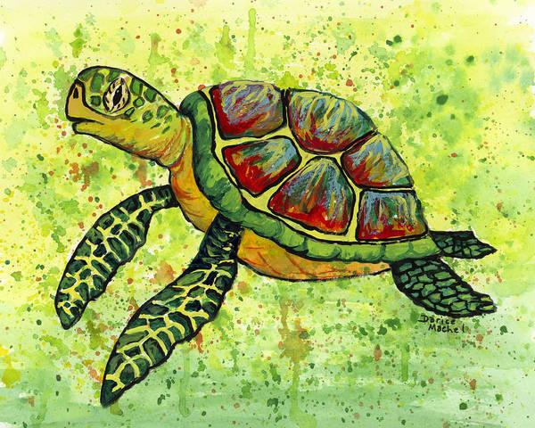 Painting - Hawaiian Sea Turtle 3 by Darice Machel McGuire