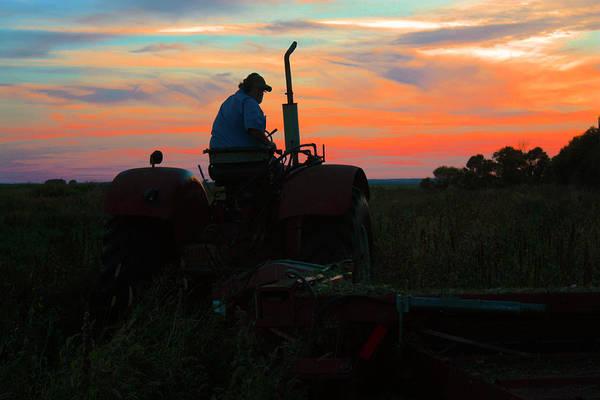 Photograph - Hay Making Time by David Matthews