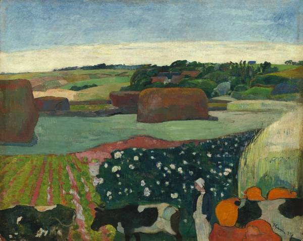 Painting - Haystacks In Brittany by Paul Gauguin