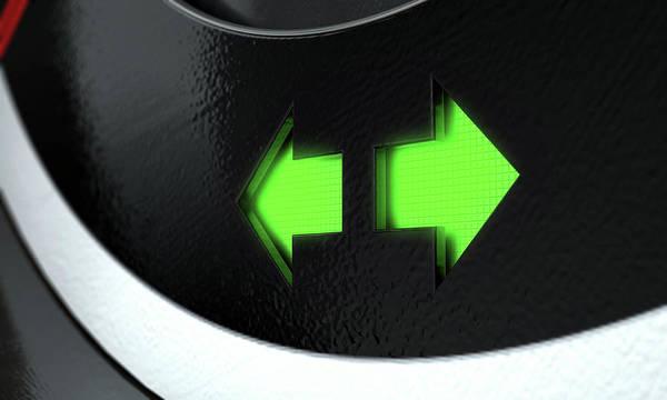Dashboard Digital Art - Hazard Dashboard Light by Allan Swart