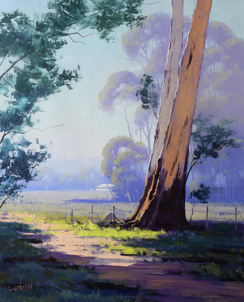 Wall Art - Painting - Hazy Light Landscape by Graham Gercken