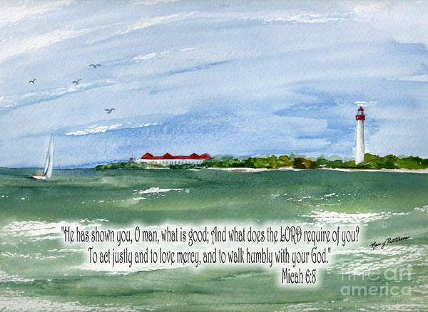 Cape May Painting - He Has Shown You What Is Good by Nancy Patterson