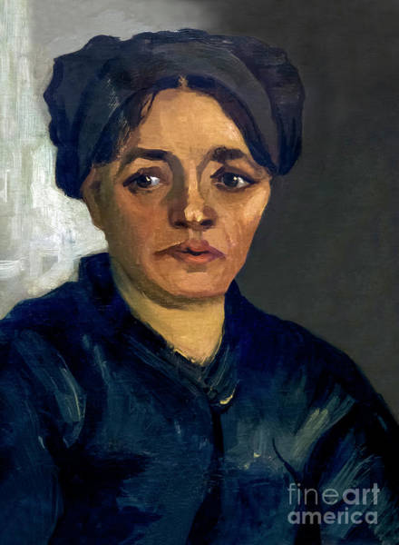 Painting - Head Of A Peasant Woman by Vincent Van Gogh