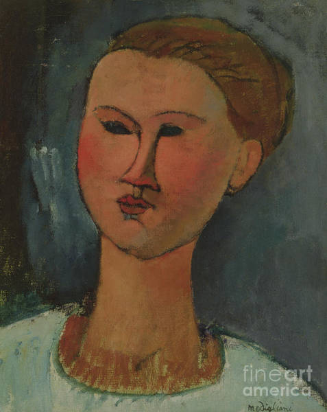 Modigliani Painting - Head Of A Young Girl by Amedeo Modigliani