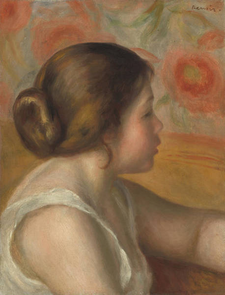Painting - Head Of A Young Girl by Auguste Renoir