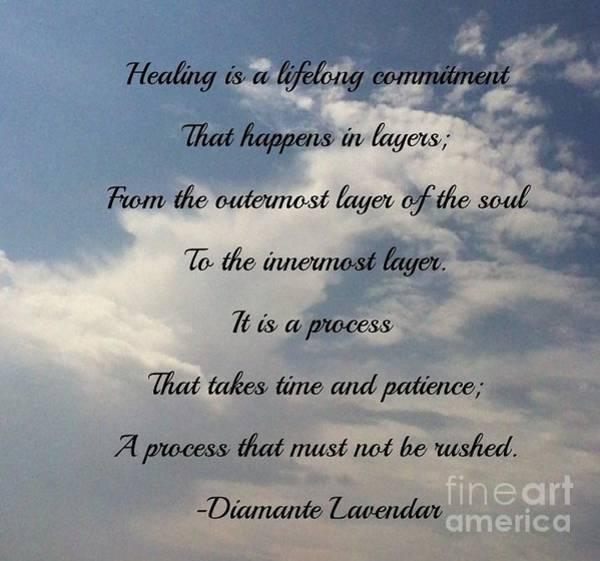 Photograph - Healing by Diamante Lavendar