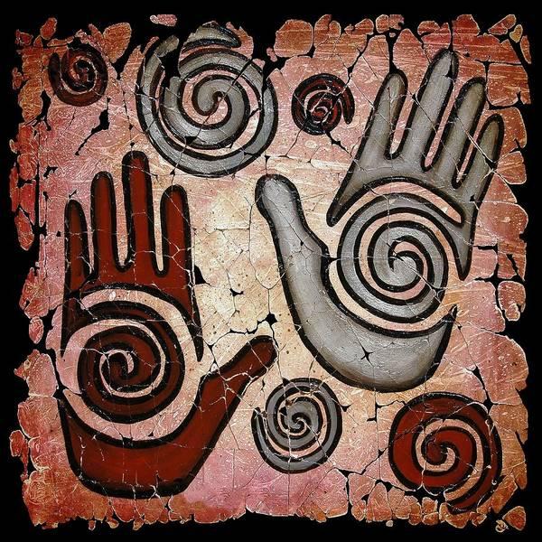 Painting - Healing Hands Fresco by OLena Art - Lena Owens