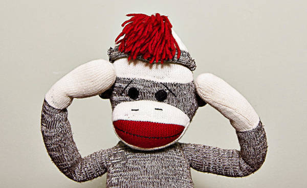 Sock Monkey Photograph - Hear No Evil by Amber Snead