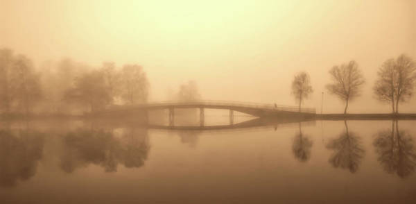 Gota Photograph - Heavy Fog Over The Gota Canal In Sweden by Pixabay