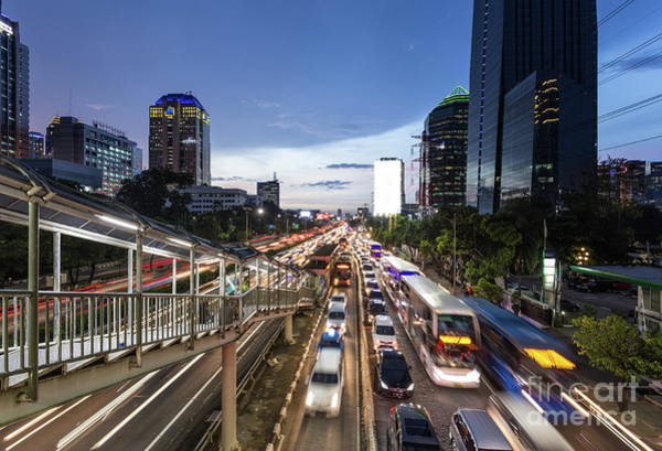 Photograph - Heavy Traffic In Jakarta Modern Business District In Indonesia C by Didier Marti