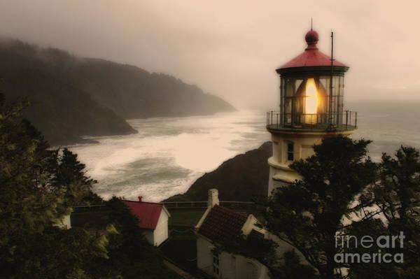 Heceta Head Lighthouse Photograph - Heceta Head Lighthouse Oregon by Bob Christopher