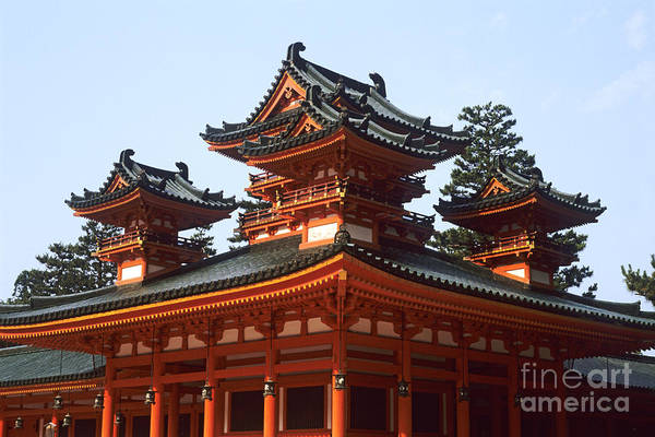 Wall Art - Photograph - Heian Jingu Temple by Bill Bachmann - Printscapes