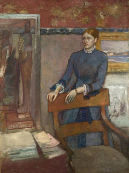 Painting - Helene Rouart In Her Father's Study by Edgar Degas