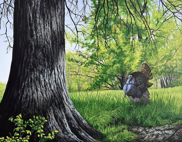 Painting - Hen Call by Anthony J Padgett