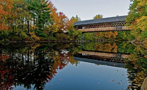 Henniker Photograph - Henniker Bridge by Paul Mangold